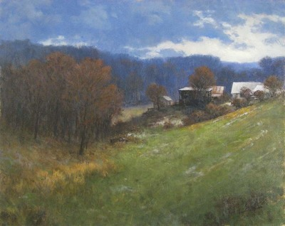 Title: VALLEY FARM , Size: 24 X 30 , Medium: Oil on Canvas , Price: $7,500