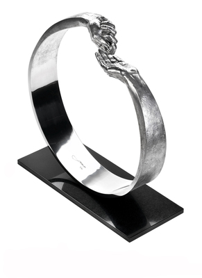 Title: GIVE AND TAKE III , Size: 17 X 16.5 X 3.5 , Medium: Aluminum