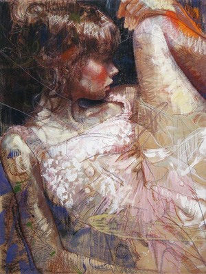 Title: AFTER THE DANCE , Size: 43 X 32; 52.75 X 42.5 , Medium: Hand Embellished Giclee , Price: $5,400