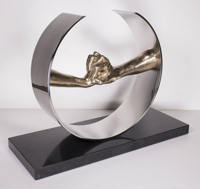 Title: DURING LOVE* , Size: 20.5 X 27.5 X 10.5 , Medium: Bronze