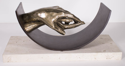 Title: ETERNAL LOVE , Size: 12 X 27.5 X 10.5 , Medium: Bronze