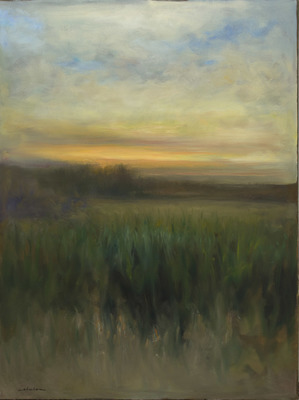 Title: EVENING SONG , Size: 48 X 36 , Medium: Oil on Canvas