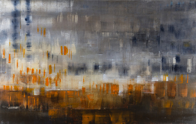 Title: RAIN THROUGH THE FOG , Size: 42 X 66, 45.5 X 69.5 , Medium: Oil on Canvas , Price: $11,900
