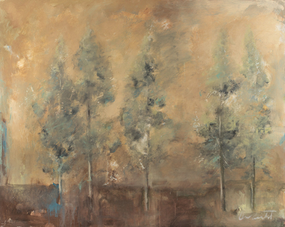 Title: INDIAN SUMMER , Size: 48 X 60, 50.25 X 62.25 , Medium: Mixed Media on Board , Price: $9,400