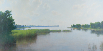 Title: BAY VIEW , Size: 30 X 60, 36.75 X 66.75 , Medium: Oil on Canvas , Price: $14,850