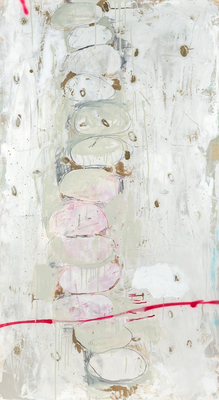 Title: COLUMN (ONE PLUS 12) , Size: 70.5 X 39.5 , Medium: Mixed Media on Canvas , Price: $6,900