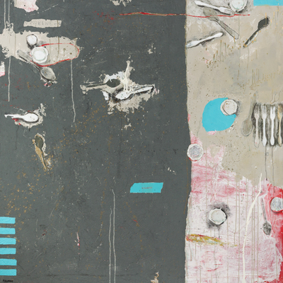 Title: NOSTRUM MENSAM EST , Size: 55 X 55 , Medium: Mixed Media on Wood , Price: $7,600