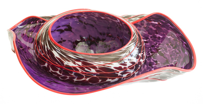 Title: NESTING RUFFLE BOWL , Size: 9 X 15 X 20 , Medium: Handblown Glass , Price: $2,100