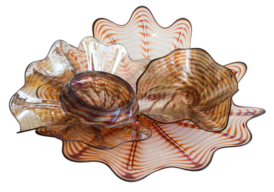 Title: NESTING VESSEL PREMIO , Size: 7 x 17 x 18 , Medium: Handblown Glass , Price: $2,100