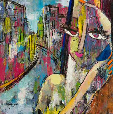 Title: URBAN VISAGE I , Size: 20 X 20, 28 X 28 , Medium: Oil on Canvas , Price: $2,400