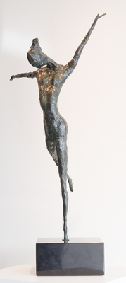 Title: TALL DANCER , Size: 36 X 19 X 15 , Medium: Bronze , Price: $8,400