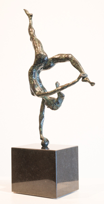 Title: DANCER ON BALL , Size: 23 X 13 X 5 , Medium: Bronze