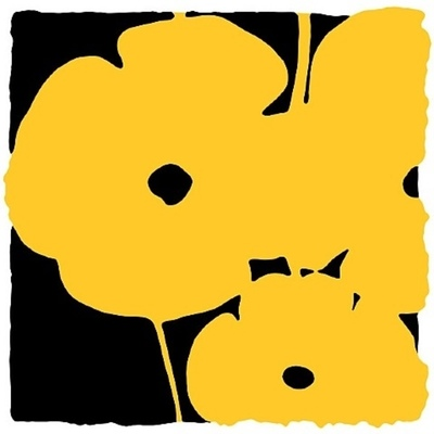 DONALD SULTAN-POPPIES: YELLOW