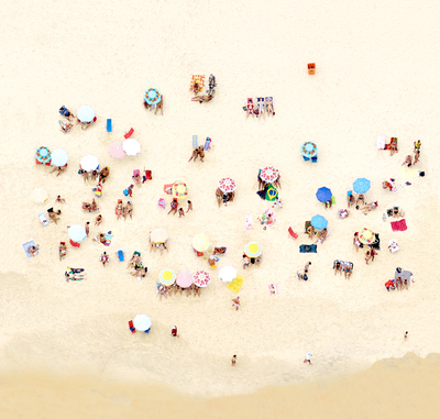 Title: SUNBATHERS OF COPACABANA II , Size: 28.5 X 30, 30.5 X 32 , Medium: Archival Inkjet Print Face-mounted to Plexiglass
