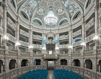 Title: ROYAL PALACE OF CASERTA THEATRE , Size: 44 X 55, 53.5 X 64.5 , Medium: Archival Pigment Print