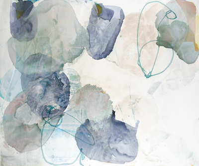 Title: WATER PETALS 10 , Size: 59.75 X 71.5, 61.25 X 73.25 , Medium: Mixed Media on Canvas , Price: $9,600