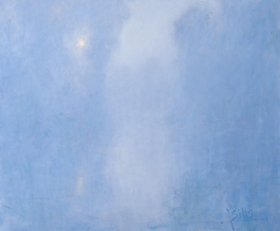 Title: HARMONY IN BLUE AND GRAY , Size: 30 X 36, 37 X 43 , Medium: Oil on Canvas , Price: $9,900