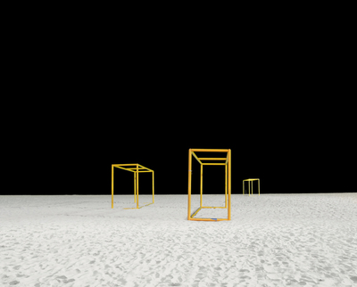 Title: GOALPOSTS I , Size: 59 X 73.5, 60.5 X 75 , Medium: Archival Pigment Print