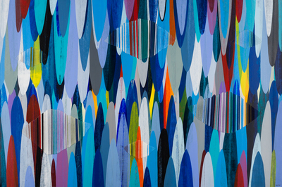 Title: POEMES LXVII , Size: 40 X 60, 41.75 X 61.75 , Medium: Mixed Media on Canvas , Price: $11,200