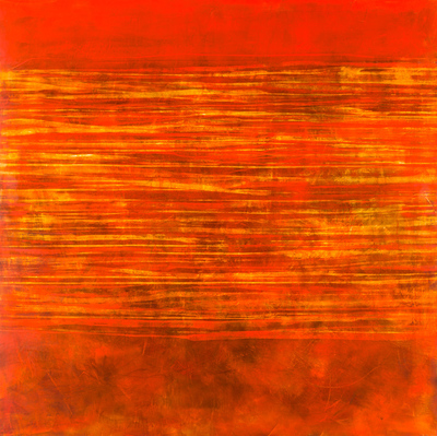 Title: SUNSET GLOW , Size: 48 X 48, 50 X 50 , Medium: Oil and Wax on Panel , Price: $6,500