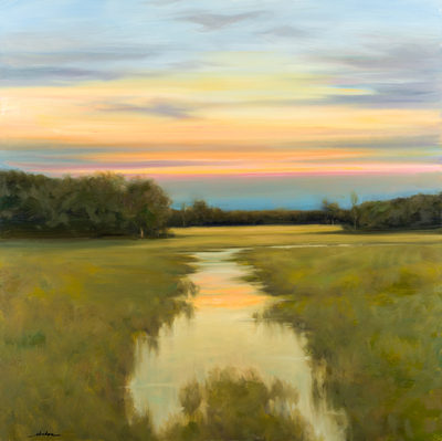 Title: EARLY LIGHT , Size: 40 X 40 , Medium: Oil on Canvas