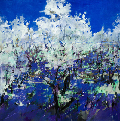 Title: SPRING , Size: 55 X 55, 56.75 X 56.75 , Medium: Oil on Canvas , Price: $11,200