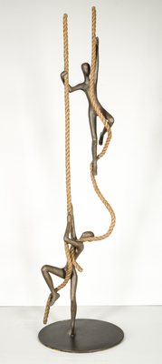 Title: ENCOURAGEMENT , Size: 44 X12 X 12 , Medium: Bronze