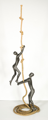 Title: SUPPORT , Size: 42.5 X 14 X 12 , Medium: Bronze