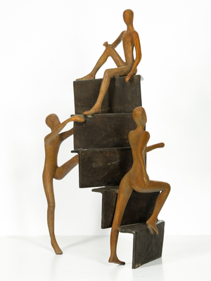 Title: WAYS OF LIFE , Size: 25 X 15 X 8 , Medium: Bronze