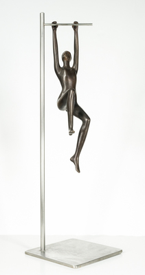 Title: SWINGING , Size: 33.5 X 10 X 10 , Medium: Bronze
