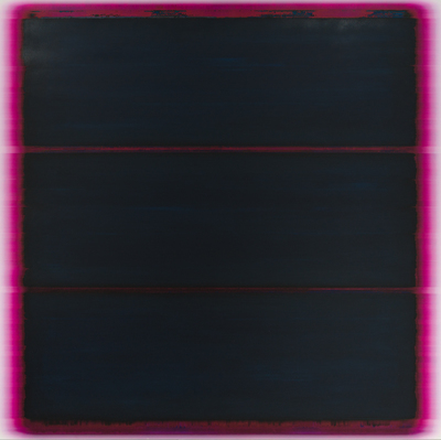 Title: 3 BARS IN MAGENTA , Size: 65.5 X 66, 66.5 X 67 , Medium: Mixed Media on Canvas