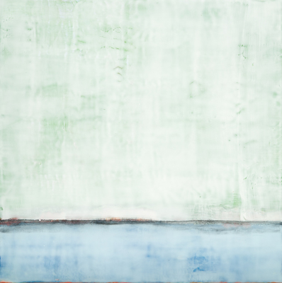 Title: SENSE OF SPACE I , Size: 24 X 24, 26.75 X 26.75 , Medium: Encaustic on Board , Price: $2,400