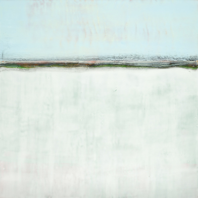Title: SENSE OF SPACE III , Size: 24 X 24, 26.75 X 26.75 , Medium: Encaustic on Board , Price: $2,400