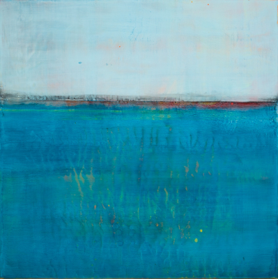 Title: SENSE OF SPACE VIII , Size: 24 X 24, 26.75 X 26.75 , Medium: Encaustic on Board , Price: $2,400