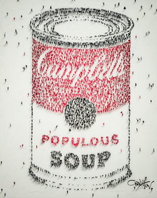 Title: POPULUS: SOUP , Size: 60 X 48 , Medium: Mixed Media on Board