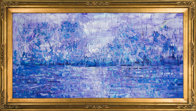 Title: BAYOU TECHE , Size: 24 X 48, 31.25 X 55.25 , Medium: Oil on Wood