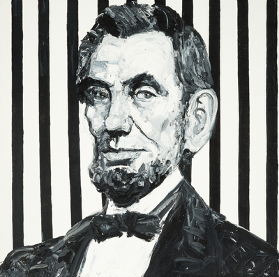 Title: ABE LINCOLN , Size: 48 X 48, 49.5 X 49.5 , Medium: Oil on Canvas