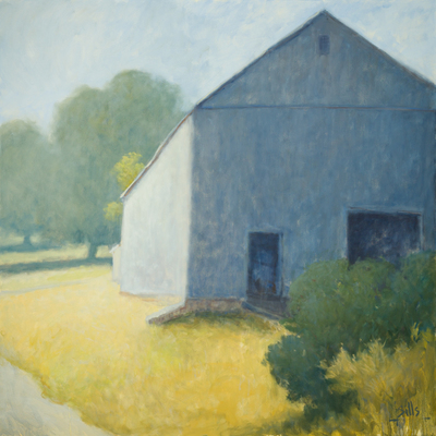 Title: ROADSIDE BARN , Size: 48 X 48, 50.5 X 50.5 , Medium: Oil on Canvas , Price: $15,500