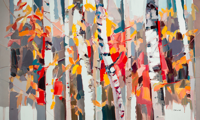 Title: CHANGING SEASONS , Size: 36 X 60 , Medium: Hand Embellished Giclee