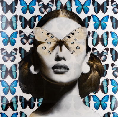 Title: BUTTERFLY DREAMS , Size: 60 X 60 , Medium: Mixed Media on Wood , Price: $10,500