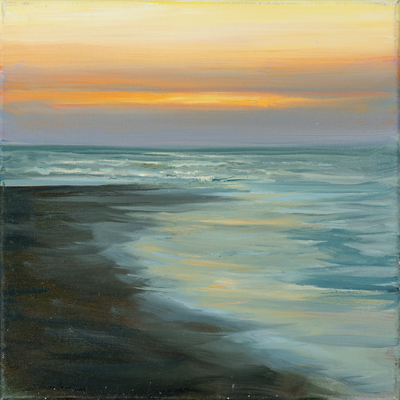 Title: EVENING TIDE , Size: 12 X 12 , Medium: Oil on Canvas