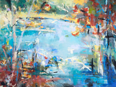 Title: RIVERBEND , Size: 45 X 60, 47.5 X 62.5 , Medium: Oil on Canvas