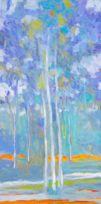 Title: NEW VERTICAL GROWTH , Size: 48 X 24, 50 X 28 , Medium: Oil on Canvas , Price: $6,900