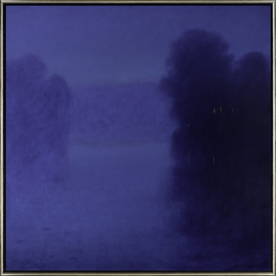 Title: NOCTURNE REFLECTION , Size: 47.75 X 47.75, 49.5 X 49.5 , Medium: Oil on Canvas