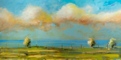 Title: MORNING RISE , Size: 36 X 72 , Medium: Oil on Canvas