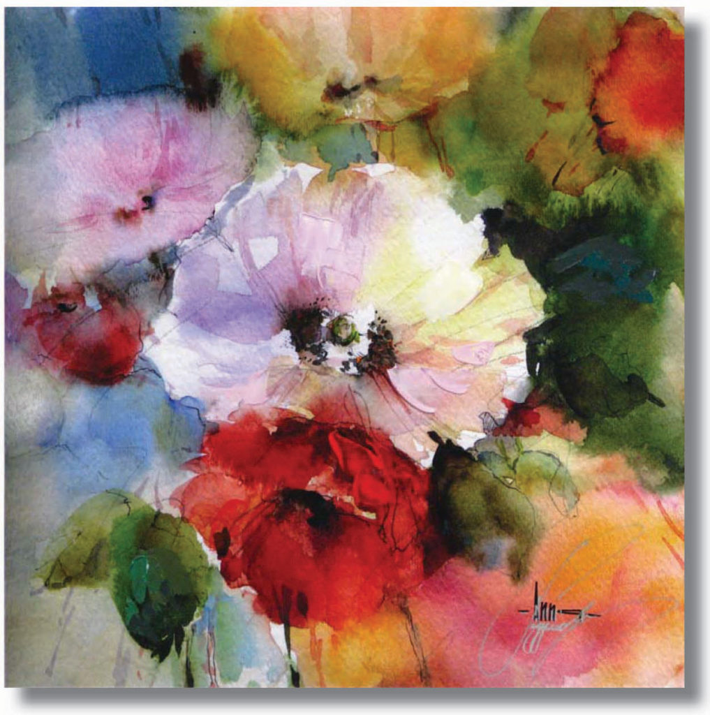 The Colors Flow Together Creating A Harmonious Watercolor Like Mix In This Abstracted Array Of Flowers