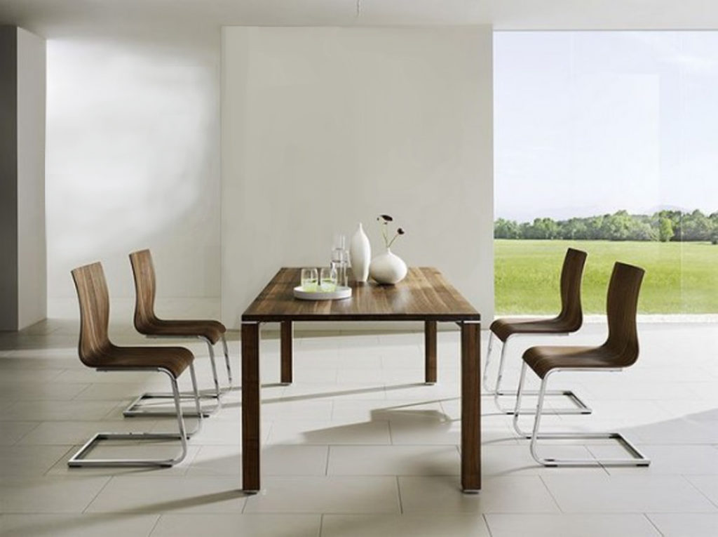 Modern minimalist dining room design merritt gallery for Minimal design dining room