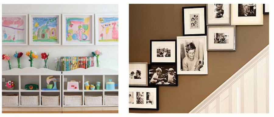 Display Pictures Without Frames. How To Create A Library Wall ...