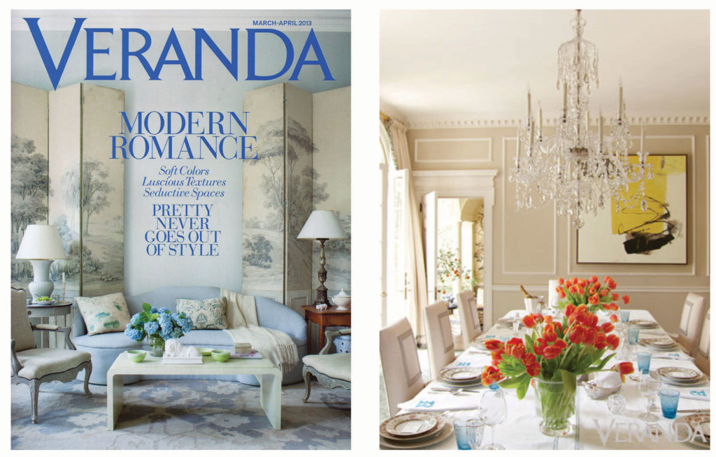 this months veranda magazine features an elegant and traditional dining room with an abstract hyunmee lee painting lees piece brings a sophistication to - Veranda Dining Rooms
