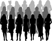 7807786-large-group-of-women--silhouette